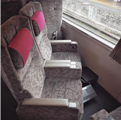 I sedili girevoli sui mezzi Giapponesi