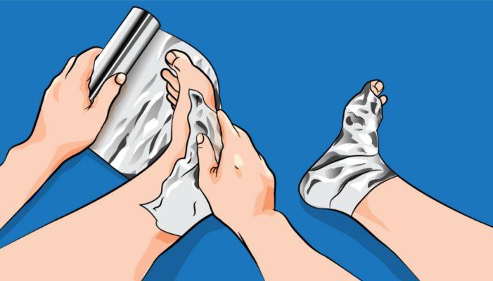 Come utilizzare un foglio di alluminio per alleviare il dolore