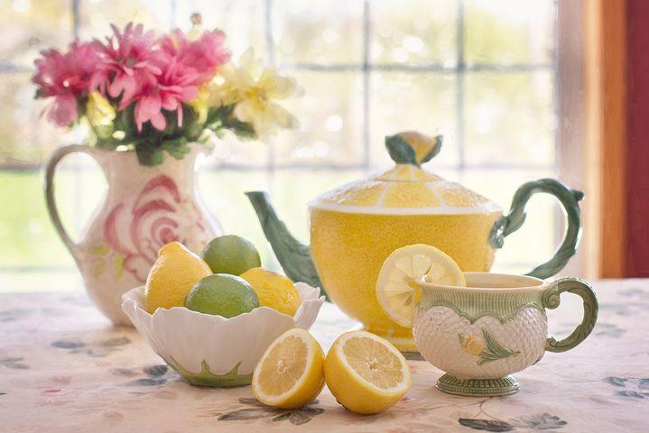 acqua e limone mattina