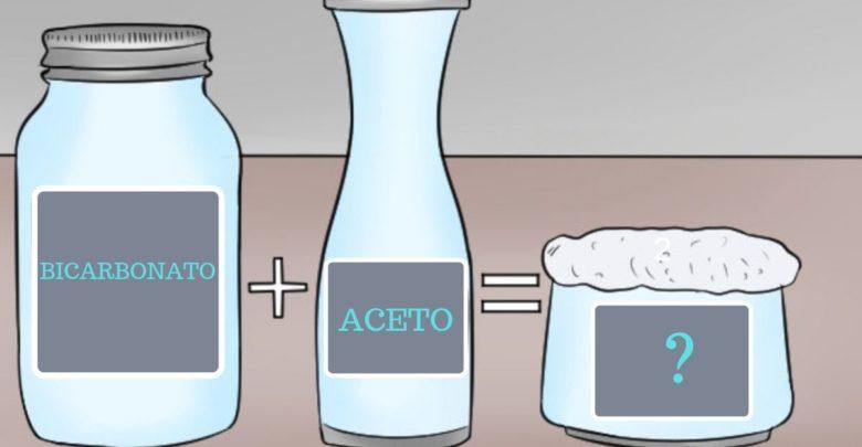 aceto e bicarbonato