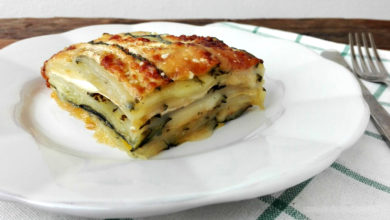 Photo of Ricetta per preparare una gustosa parmigiana bianca di patate e zucchine