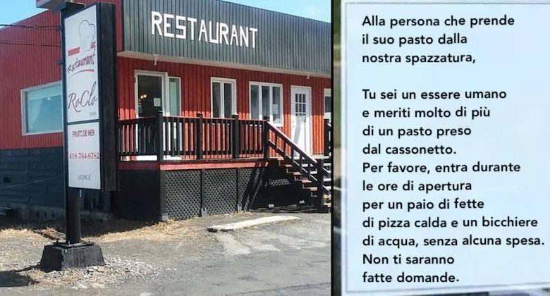 pizza gratis ai senzatetto