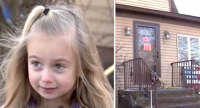 Bambina di 6 anni salva la sua famiglia