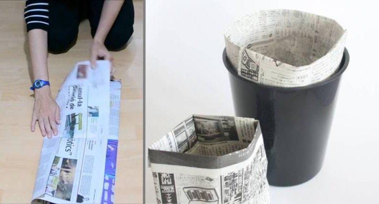 fare sacchetti di carta per gettare spazzatura