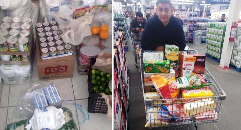 imprenditore compra cibo ai dipendenti