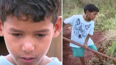 Photo of Kauã ha 10 anni e lavora senza sosta per sostenere la sua famiglia