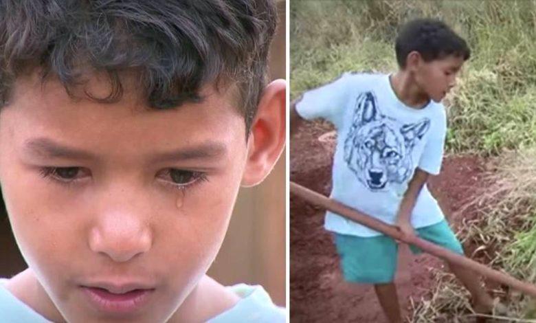 Kauã ha 10 anni e lavora senza sosta