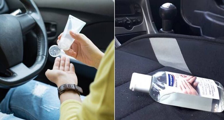 lasciare il gel disinfettante in auto