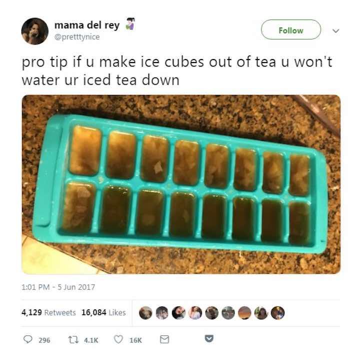 Come bevono io tè freddo le persone troppo intelligenti