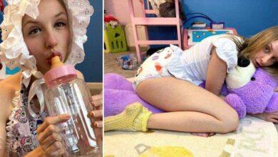 Photo of Ragazza vive come un bebè a tempo pieno, dorme in culla e spende centinaia di euro in pannolini