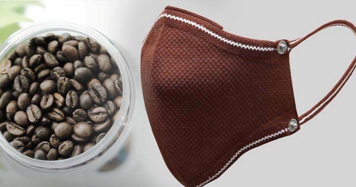 mascherina prodotta con i chicchi di caffè