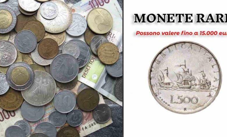 Monete rare possono valere 15 mila euro