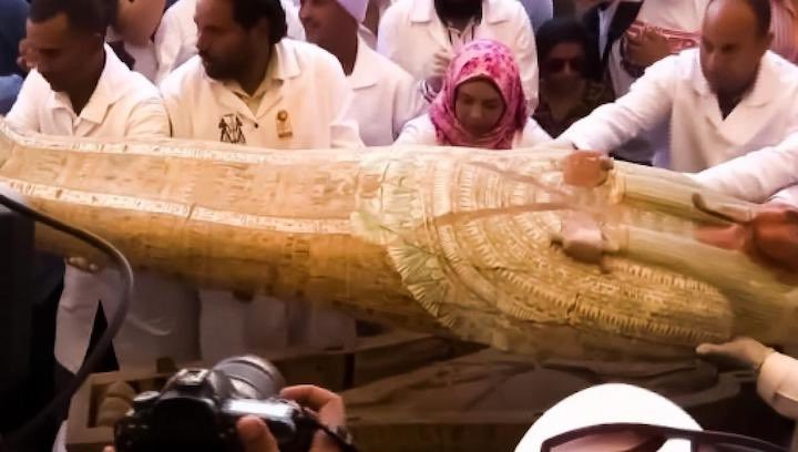 sarcofago dell'Antico Egitto di 4000 ann