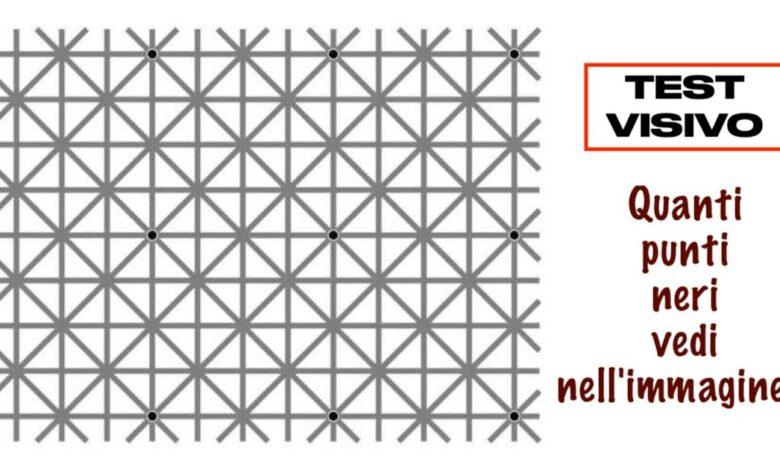 Test visivo quanti punti neri vedi nell'immagine