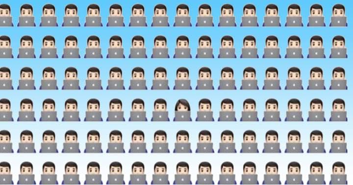 Trova la diversa emoji inserita all'interno dell'immagine