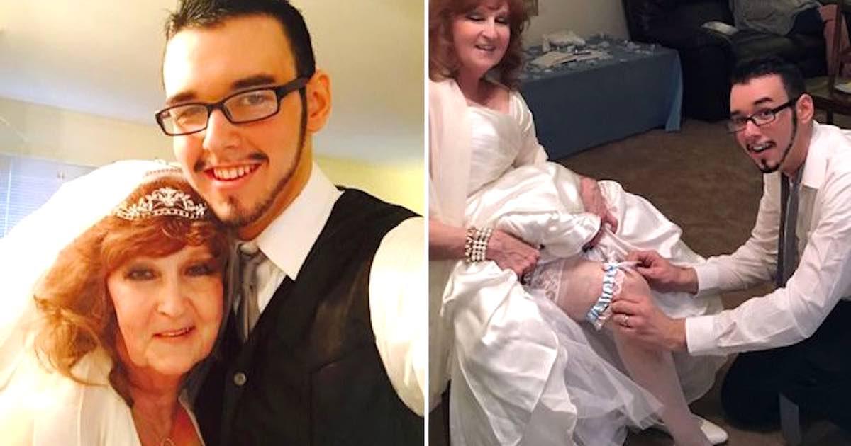 Un 22enne sposa una donna di 72 anni
