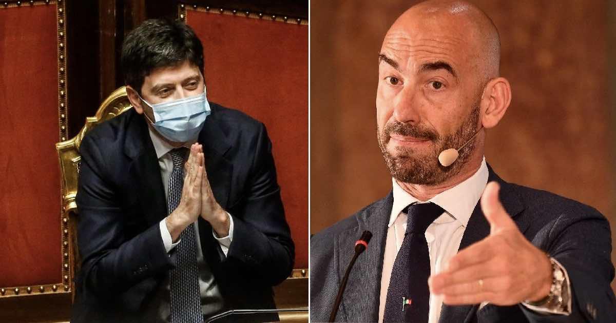 Matteo Bassettiattacca Roberto Speranza